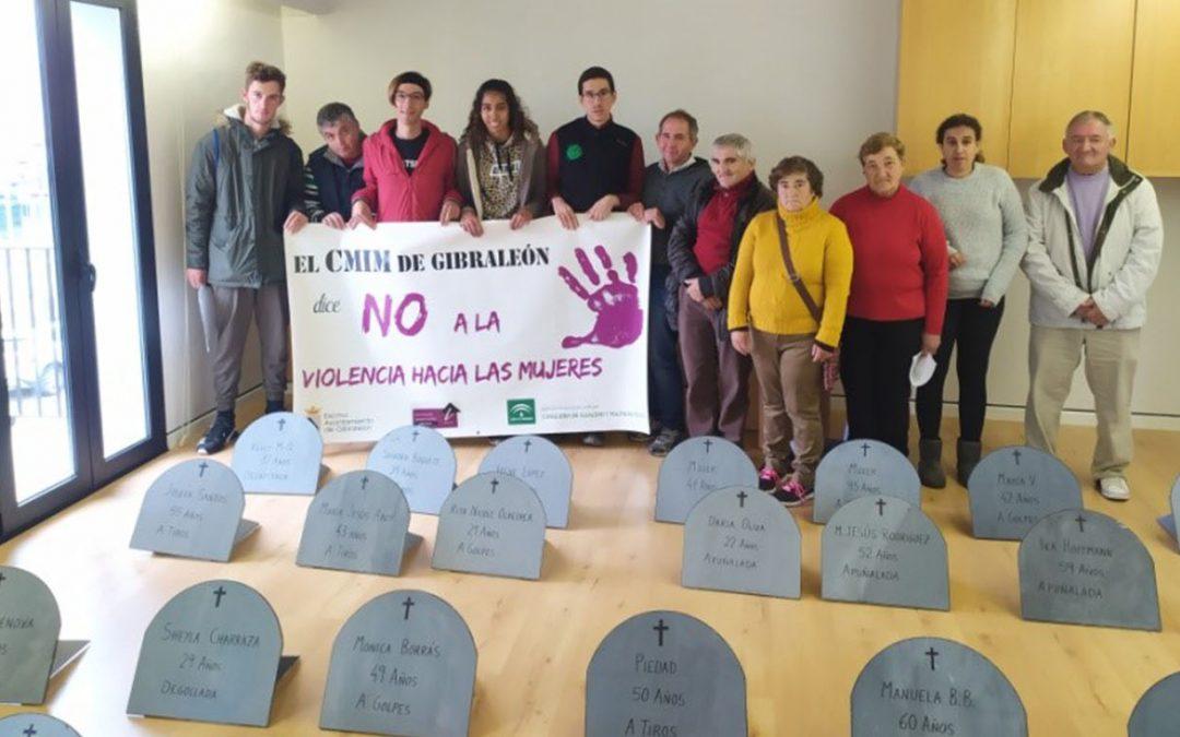 Los alumnos del Centro de Educación Especial 'Cristo Roto' y Autogestores dicen NO a la Violencia de Género.